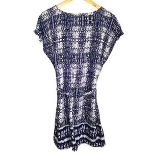 3/30$ Bll NY Tie Dye Bleu & White Belt Mini Dress